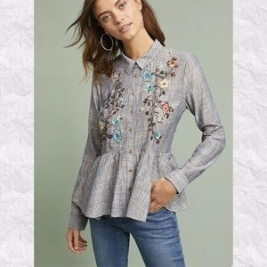 HD in Paris Anthro Ella Embroidered Sequins Top
